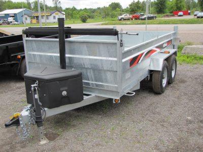 5 Ton 6'x12′ Galvanized Dump Trailer